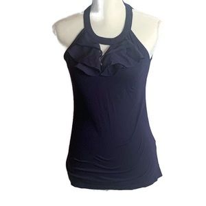 The Limited Purple Ruffle Keyhole Tank Top Shirt S